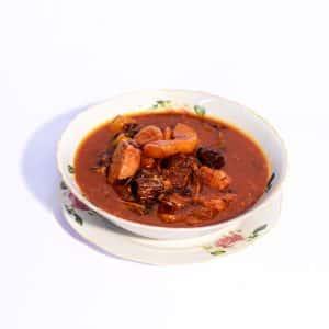 תבשיל גדרה פרסית עם חבושים ,פירות יבשים ,בשר עגל ברוטב רימונים וסילן