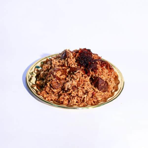 אורז עם בשר ועגבניות בבישול 24 שעות על פלטה
