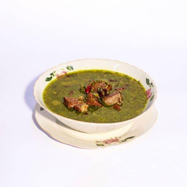 תבשיל גדרה פרסית עם בשר עגל שעועית אדומה ועשבי טיבול פרסים עם לימון פרסי