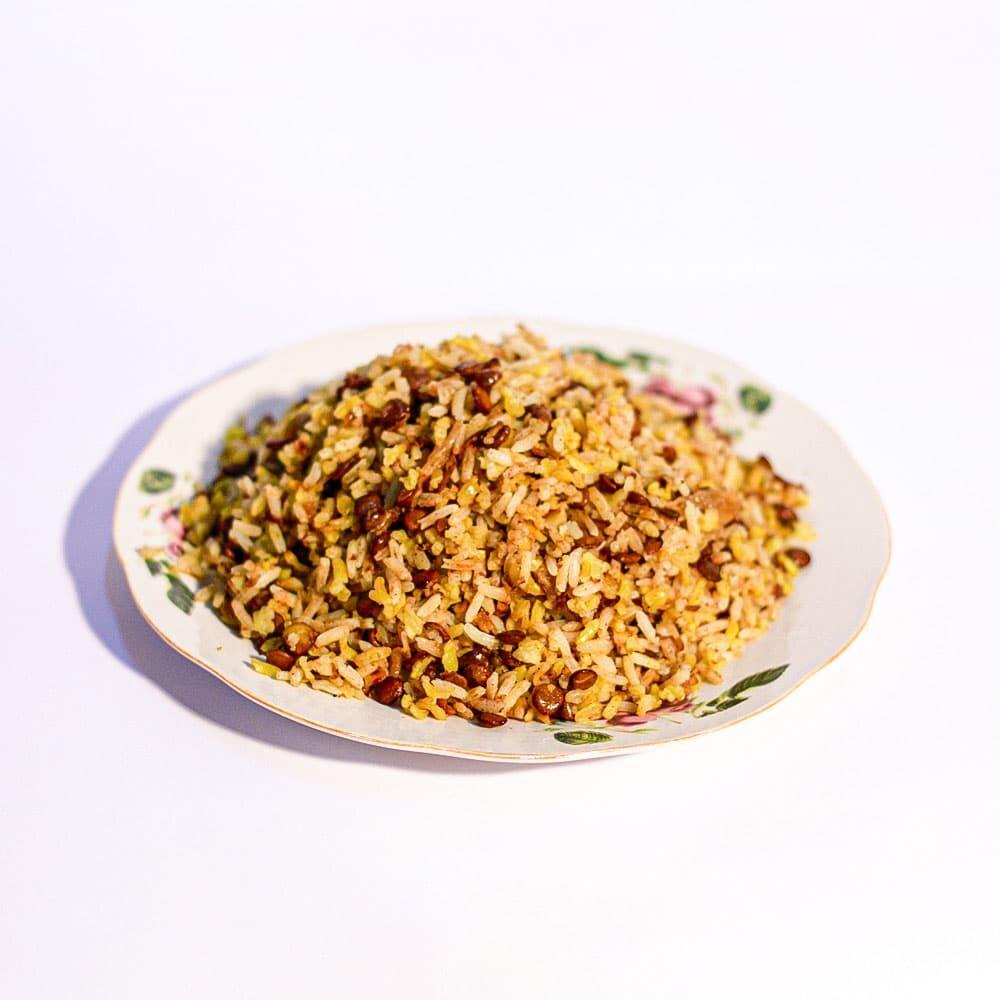 אורז פרסי מאודה עם בצל ועדשים